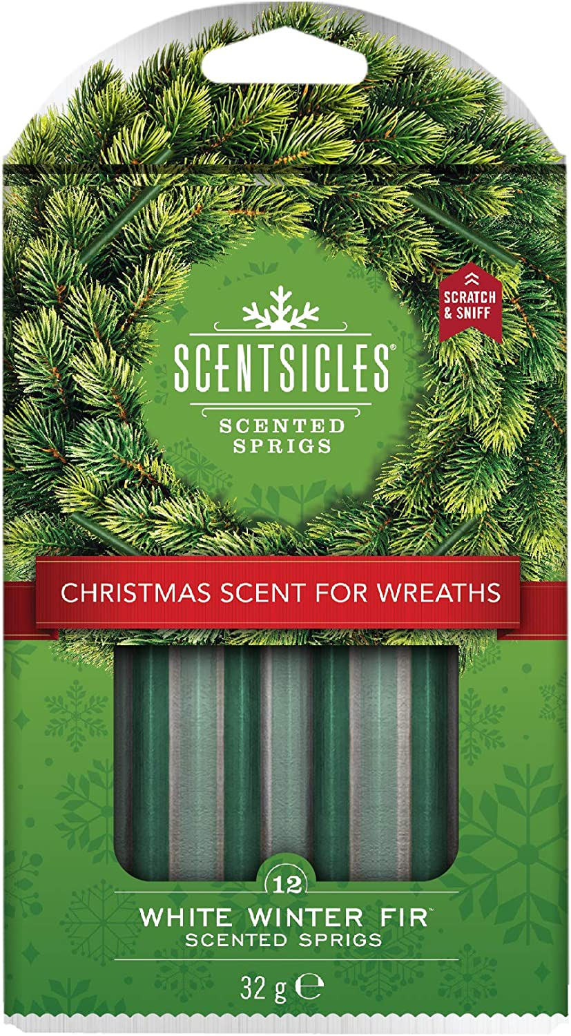 6 x Scentsicles Scented Hanging Sticks Spruce Christmas Fresh Cut Tree Scent