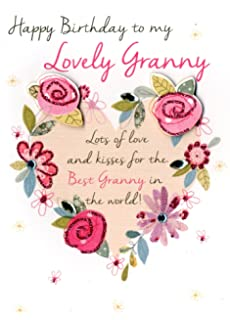Lovely Granny Happy Birthday Greeting Card Second Nature Just To Say Cards