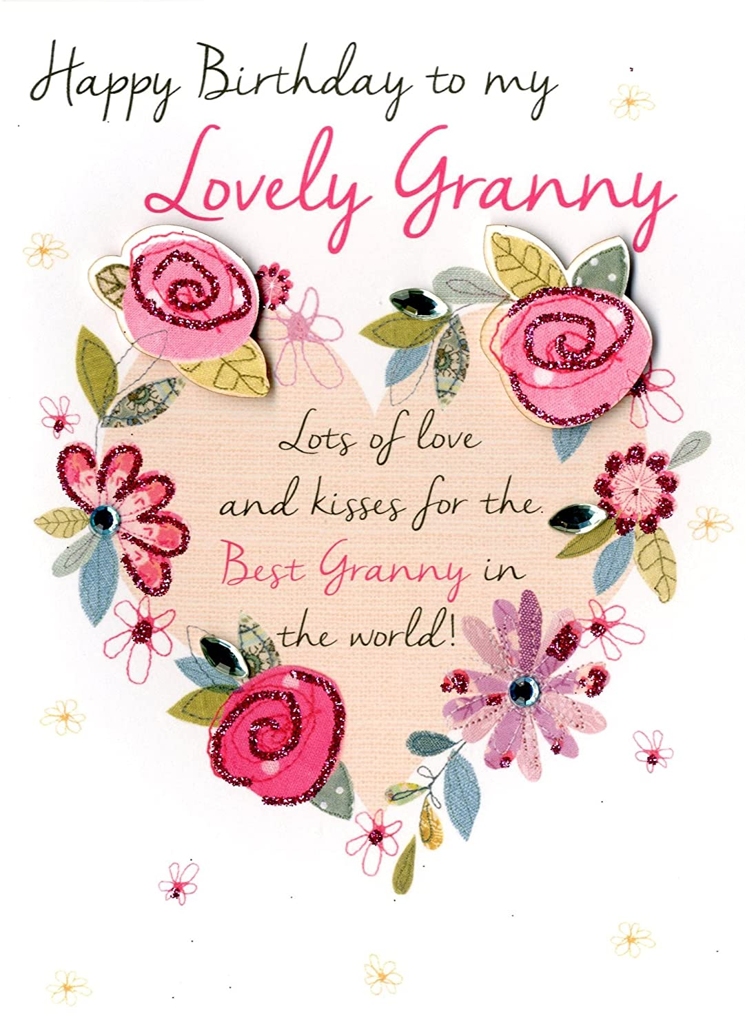 Amazon Lovely Granny Happy Birthday Greeting Card Second