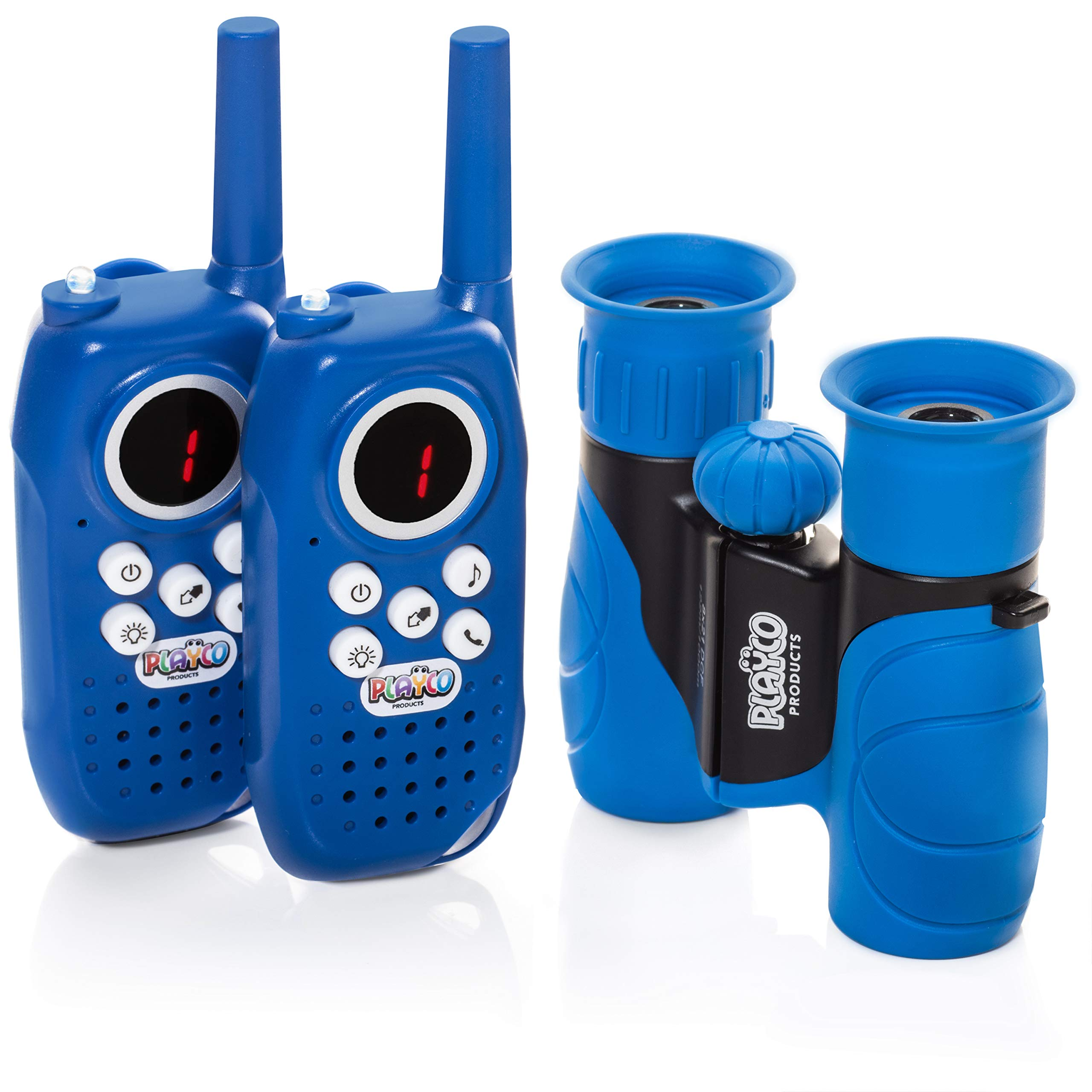 Playco Walkie Talkies and Binoculars for Kids - 2 Mile Range, Crystal Clear Sound, 8X21 Optical Lens by Playco (Image #1)