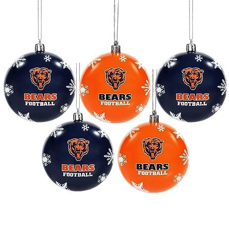 Chicago Bears 2016 5 Pack Shatterproof Ball Ornament Set - Amazon.com : Chicago Bears 2016 5 Pack Shatterproof Ball Ornament