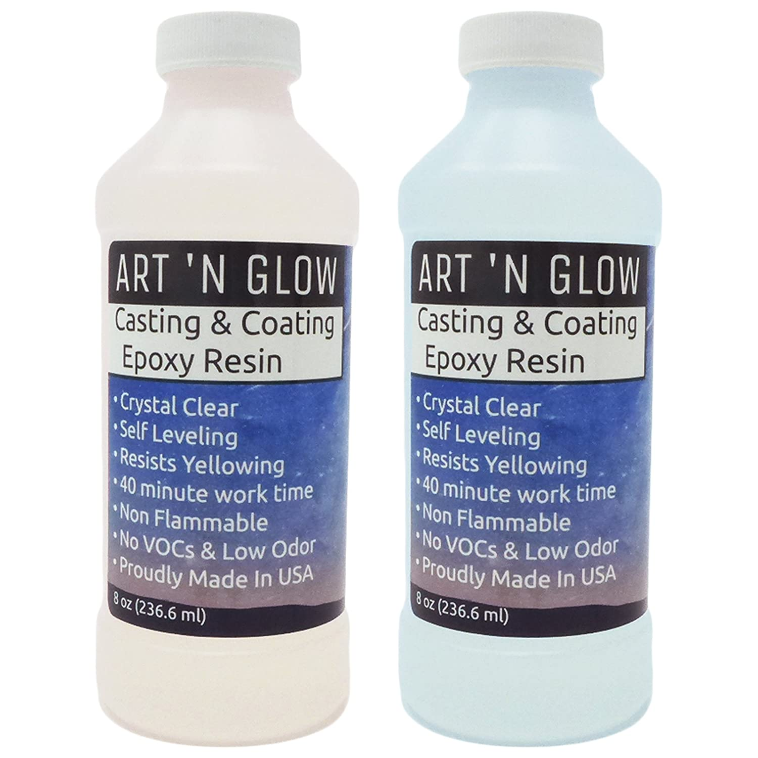 Clear Casting And Coating Epoxy Resin   16 Ounce Kit by Art 'n Glow