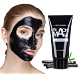 Black Mask, Herwiss Blackhead Remover Mask Charcoal Peel Off Mask for Women & Men - Oily Skin Control and Strawberry Nose Deep Pore Cleansing with Nourishing Bamboo Charcoal, Aloe Vera
