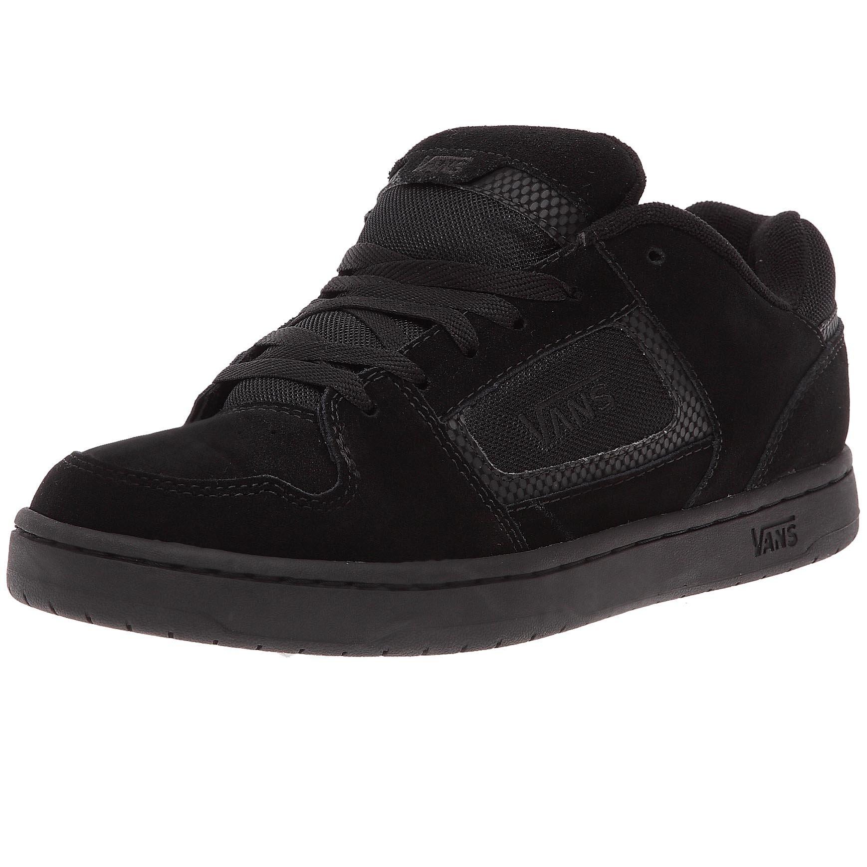 Vans Men Docket Skate Suede Leather Logo Shoes (12, Black)