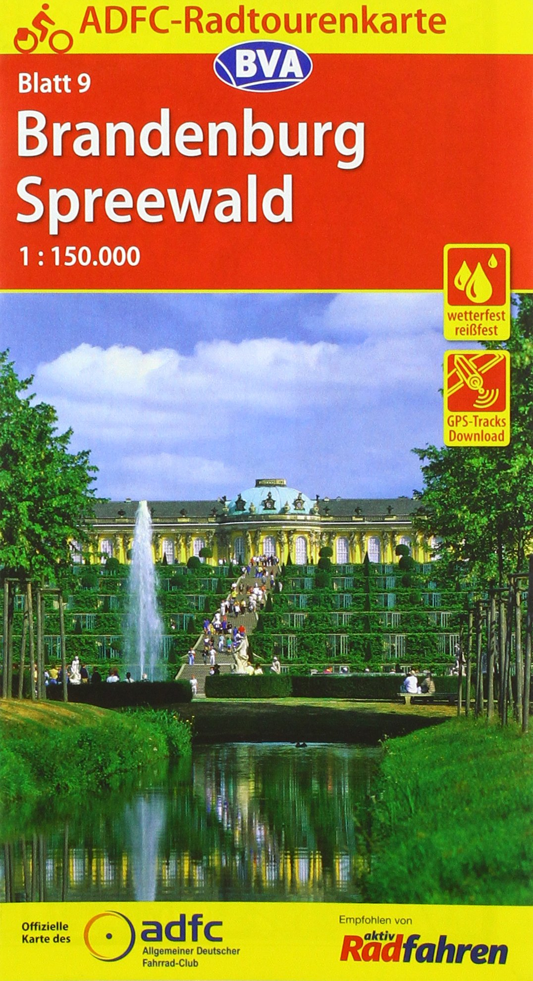 ADFC-Radtourenkarte 9 Brandenburg Spreewald 1:150.000, reiß- und wetterfest, GPS-Tracks Download und Online-Begleitheft (ADFC-Radtourenkarte 1:150000)