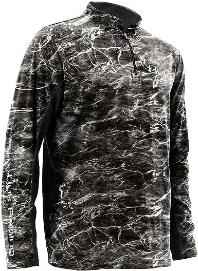 Huk Men/'s Icon Camo Subphantis Glacier Large 1//4 Zip Long Sleeve Shirt