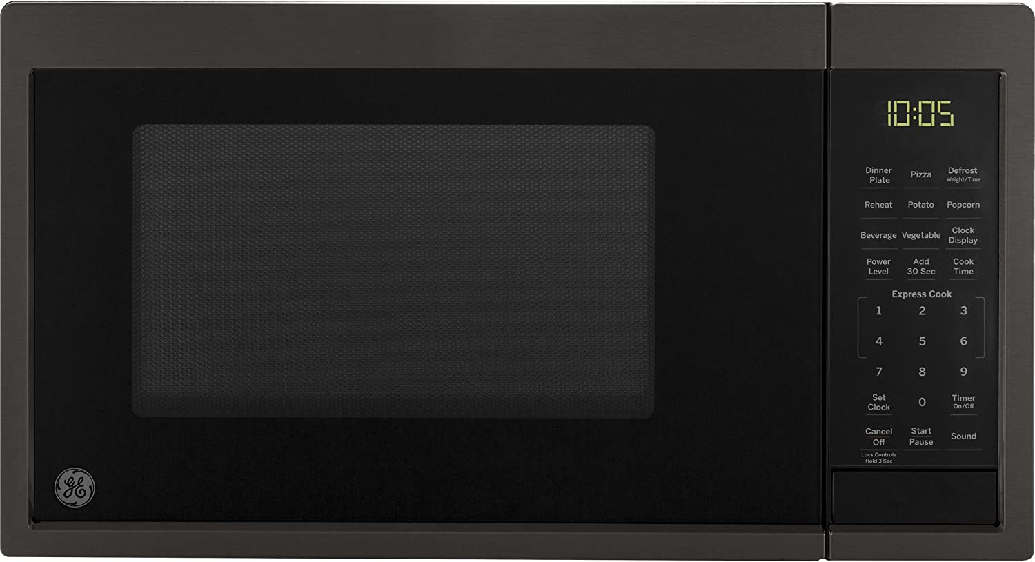 Amazon Com Ge Appliances Jes1095bmts Ge 0 9 Cu Ft Capacity Countertop Microwave Oven Black Stainless Steel Appliances
