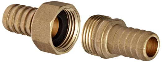 3//4 GHT x 3//4 Hose ID Barbed Dixon BC76 Brass Hose Fitting Complete Machined Coupling Set