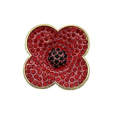Luxury remembrance sunday poppy flower shiny red symbolic brooch pin luxury remembrance sunday poppy flower shiny red symbolic brooch pin br310 mightylinksfo