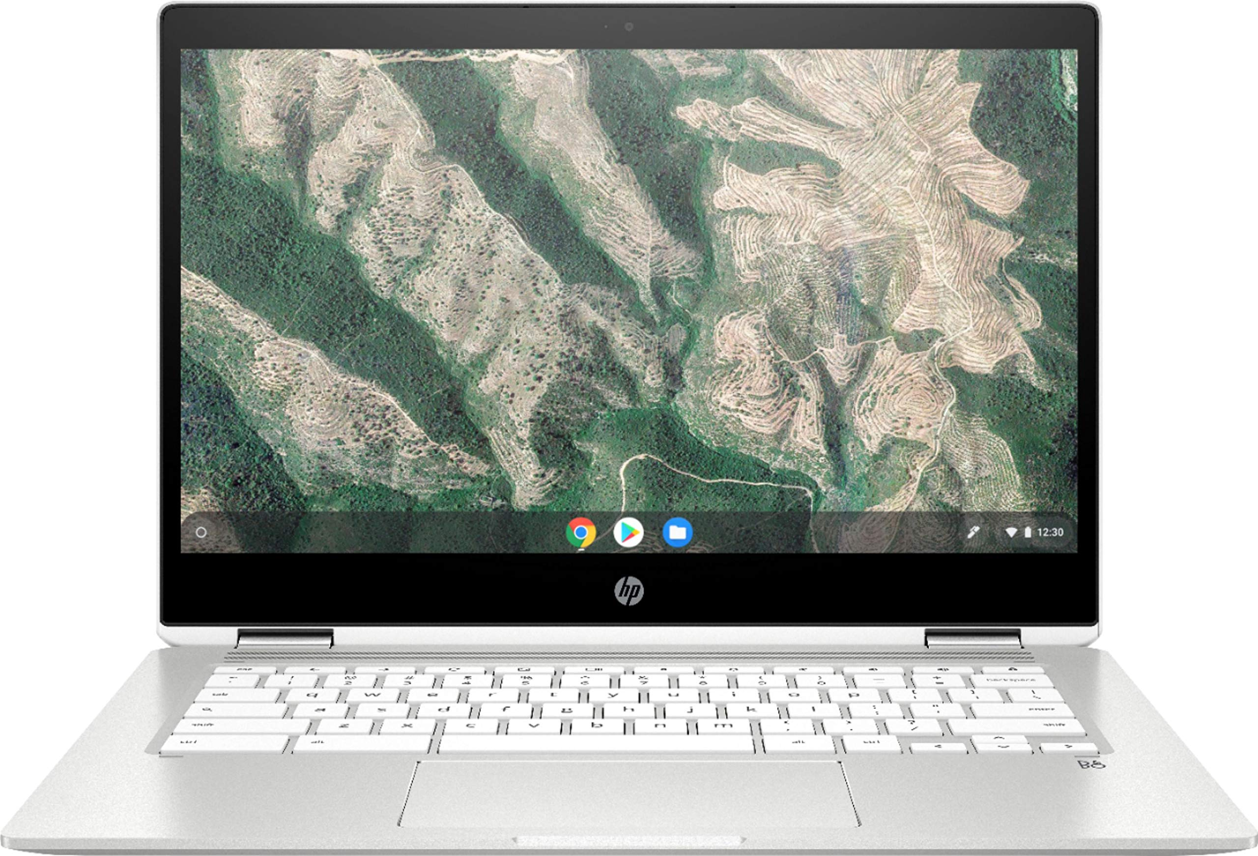"HP Chromebook x360-14"" HD Touch - Pentium Silver N5000-4GB - 64GB eMMC - Silver White"