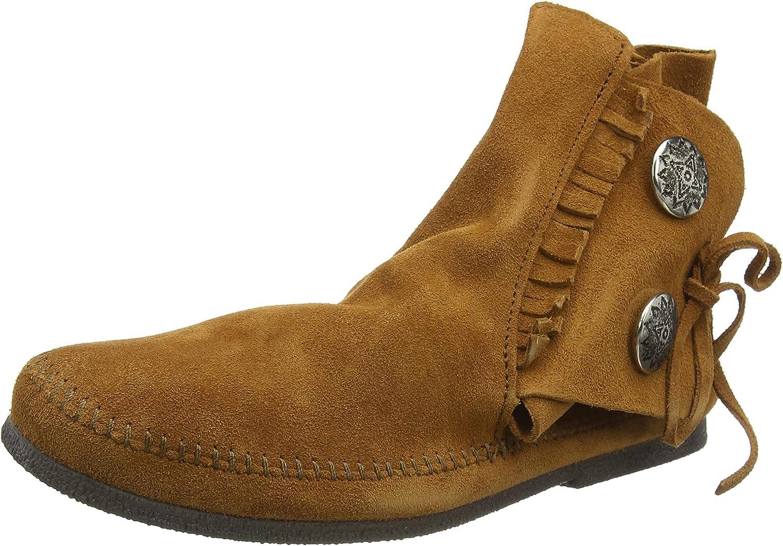 Minnetonka Max 69% OFF Men's Two Button Hardsole Popular product Boot Pitt Seen Brad on - As