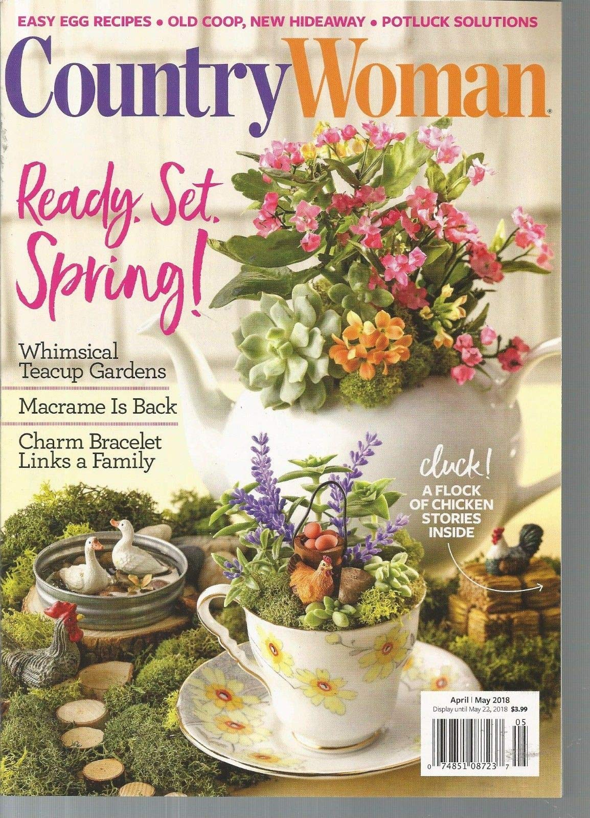 COUNTRY WOMAN MAGAZINE, APRIL/MAY 2018 ~