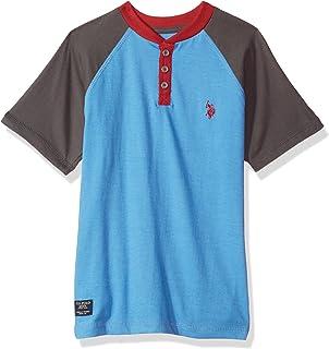 U.S. Polo Assn. Boys Long Sleeve Solid Henley Shirt
