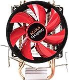 Mars Gaming MCPU117- Disipador gaming para ordenador (ventilador 90mm, tecnología PWM, soporte AM4, TDP de hasta 120W, perfil ultradelgado) color rojo y negro