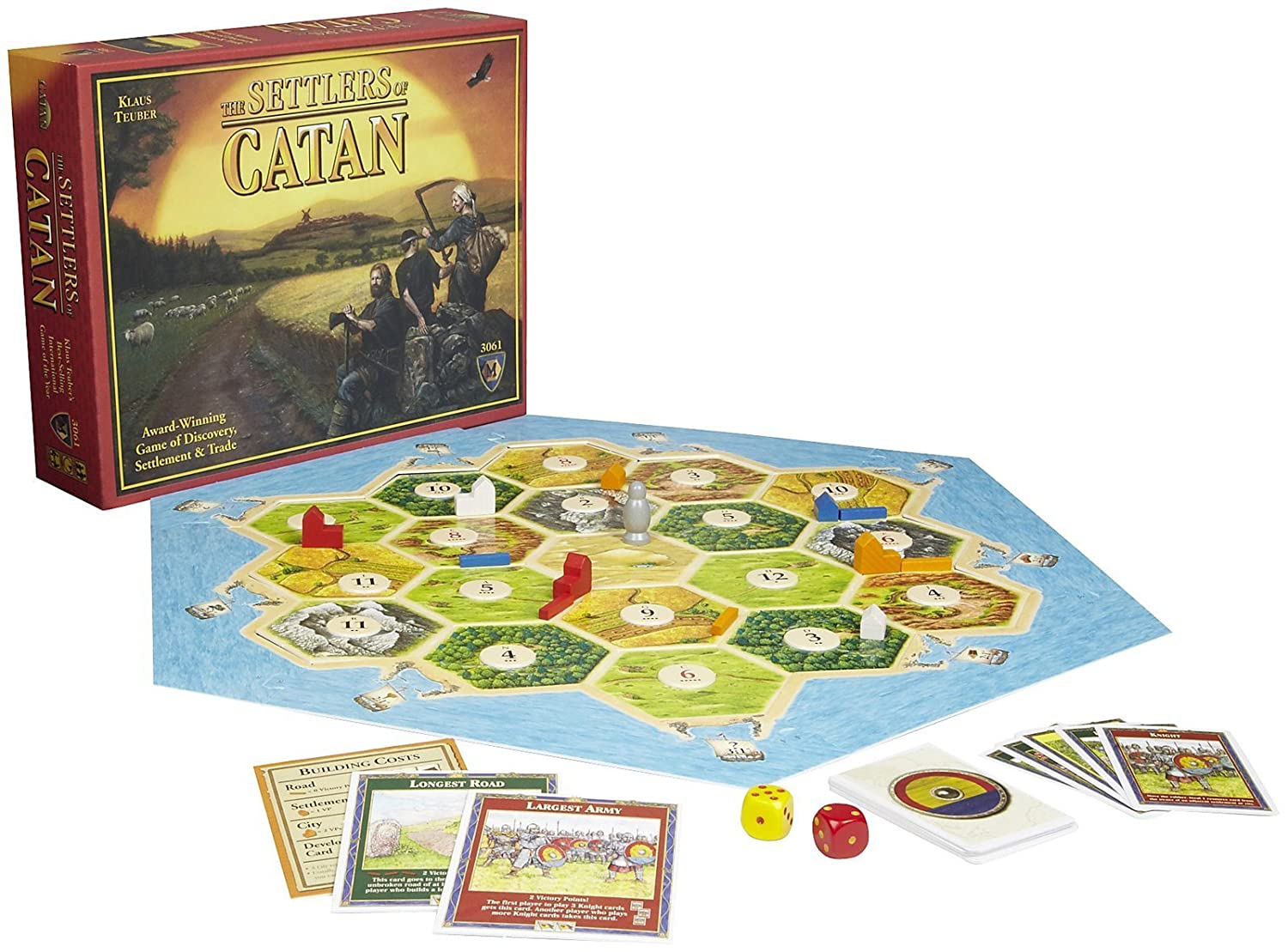 The Settlers of Catan game board