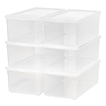 Superbe IRIS Media Storage Box, 6 Pack, Clear