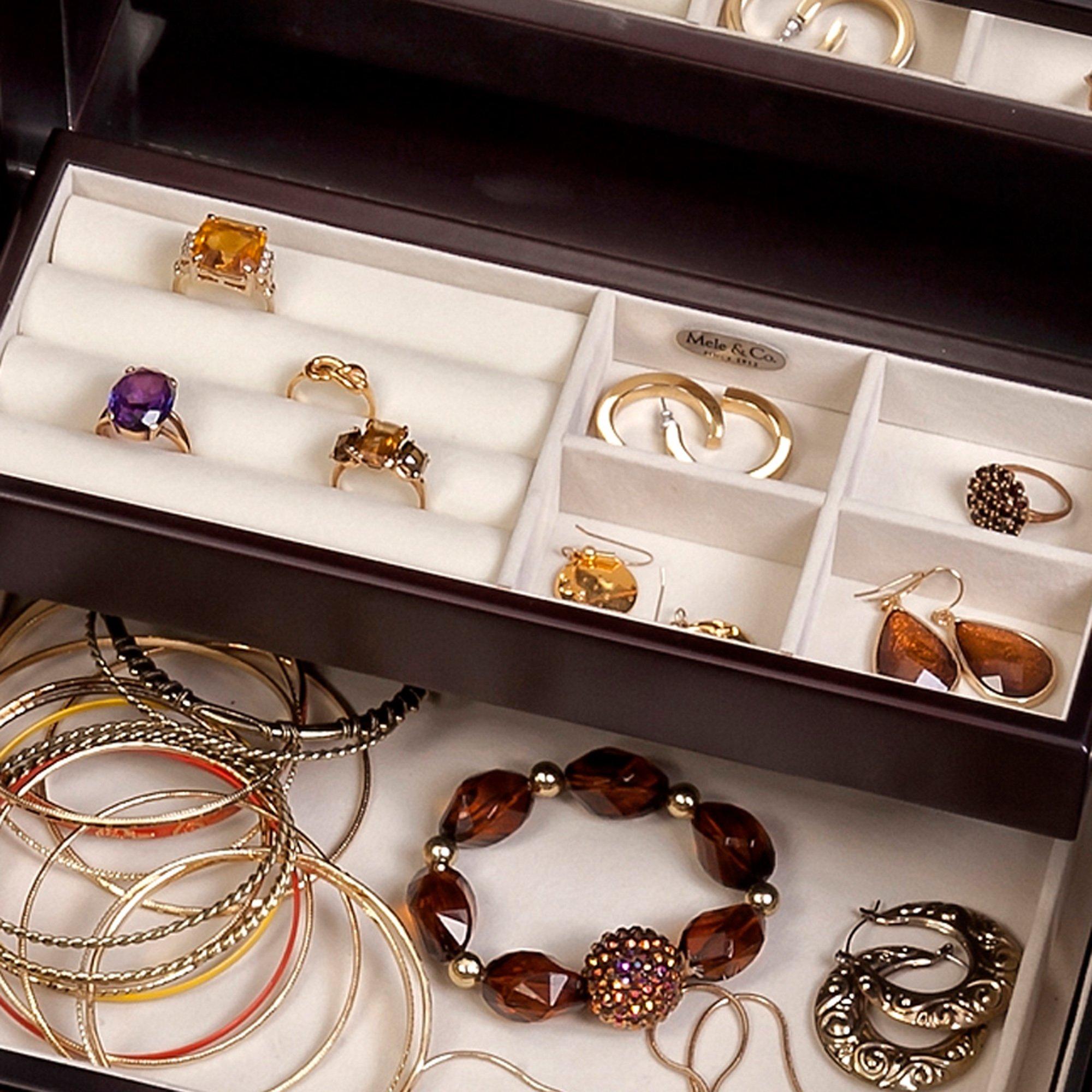 Mele & Co. Juliette Wooden Jewelry Box (Java Finish) by Mele & Co. (Image #4)