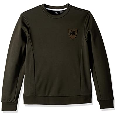 A|X Armani Exchange Men's Ax Collegiate Pullover: Clothing