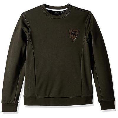A|X Armani Exchange Men's Ax Collegiate Pullover: Clothing