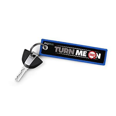 KEYTAILS Keychains, Premium Quality Key Tag for Motorcycle, Scooter, ATV, UTV [Turn Me On, Ride Me]: Automotive