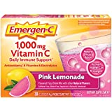 Emergen-C Vitamin C 1000mg Powder (30 Count, Pink Lemonade Flavor, 1 Month Supply), With Antioxidants, B Vitamins And Electro