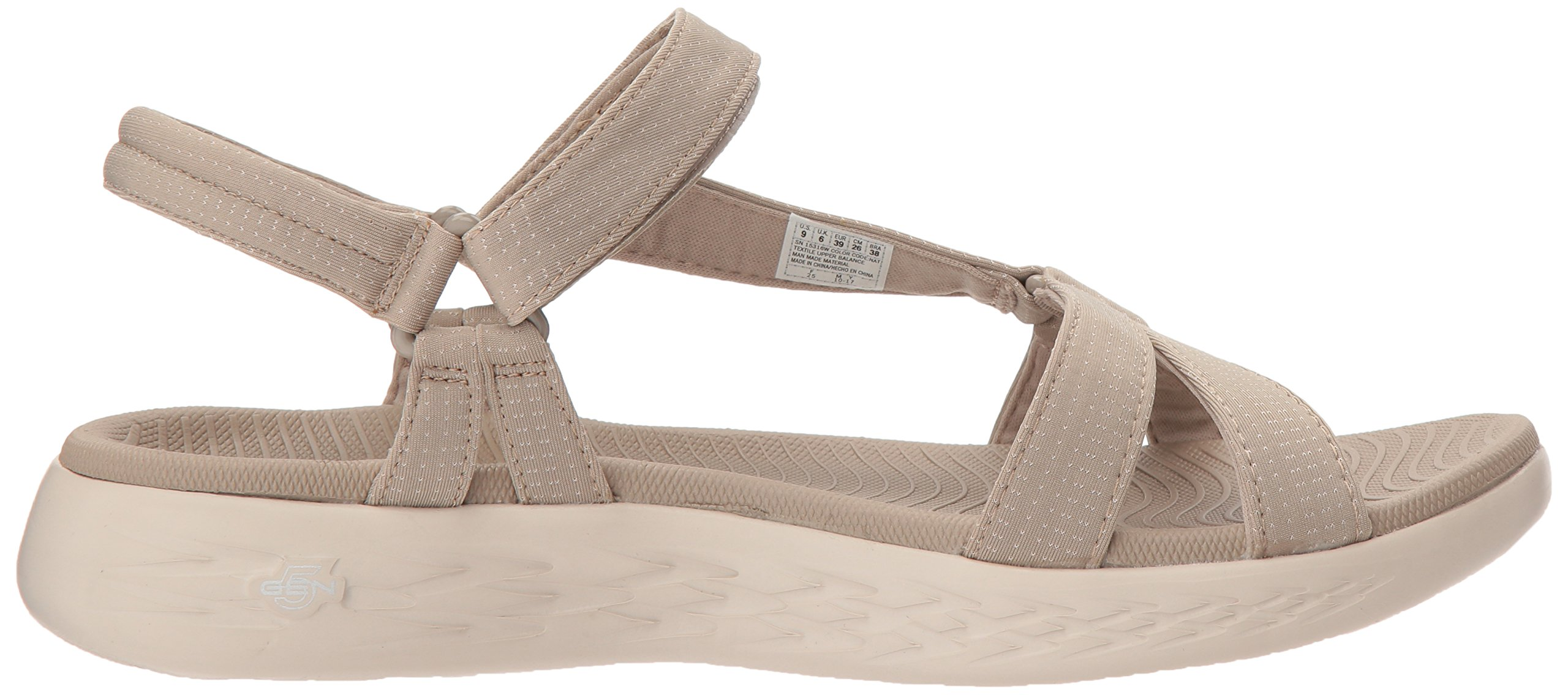 Skechers Performance Women's on-The-Go 600-Brilliancy Wide Sport Sandal,Natural,6 W US by Skechers (Image #7)