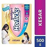 Mother's Horlicks - Health & Nutrition drink, No Added Sugar, Kesar flavor, 500gm