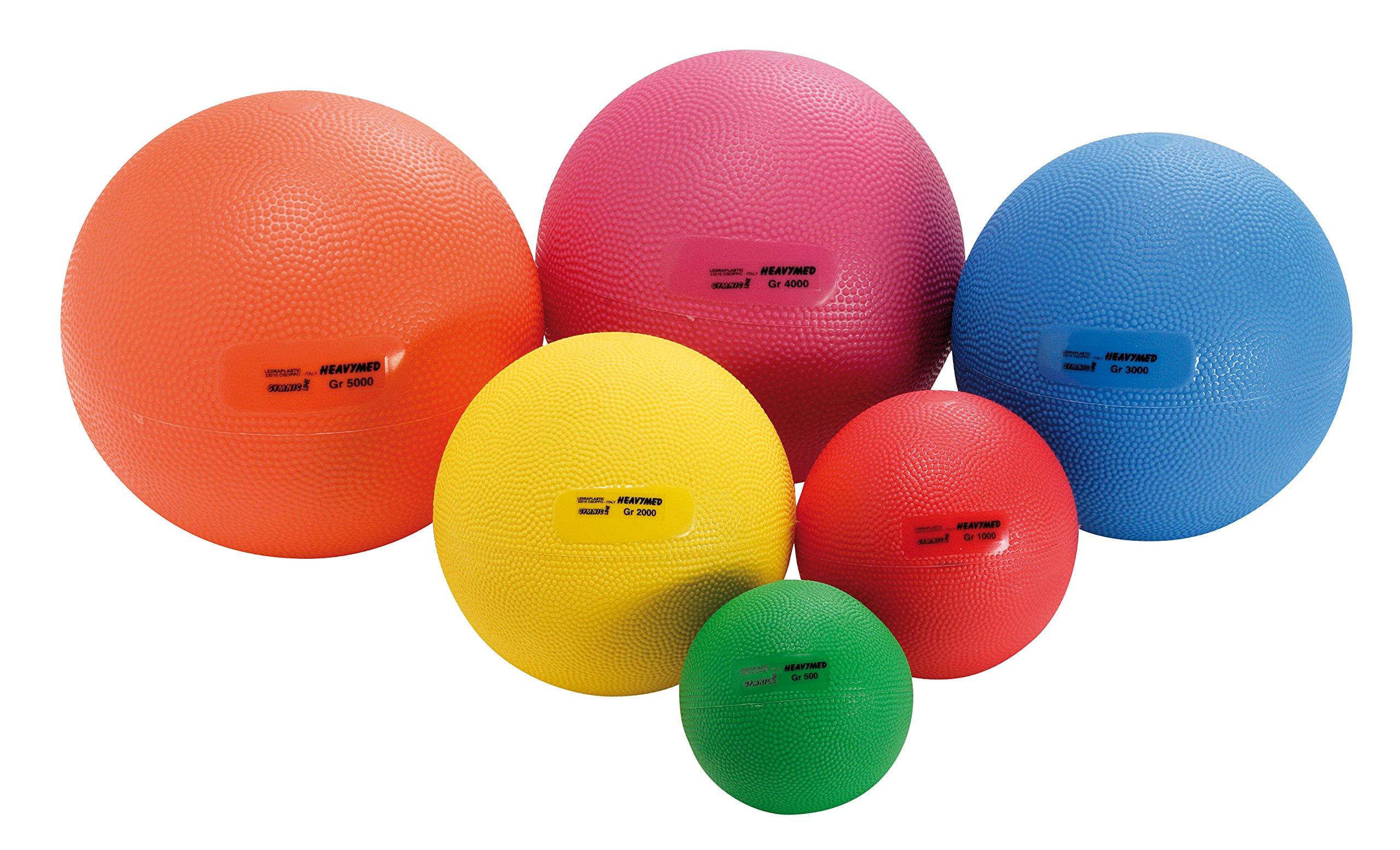 Gymnic Heavymed 2 Medicine Ball, Yellow (15 cm, 2 kg / 4.4 lbs)