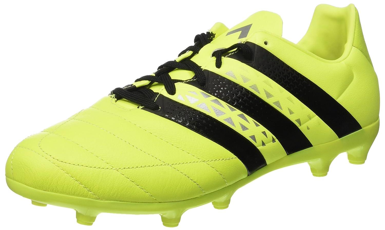 Adidas Ace 16.3 FG Leather, Botas de Fútbol para Hombre 40 2/3 EU|Amarillo (Amasol / Negbas / Plamet) Amarillo (Amasol / Negbas / Plamet)
