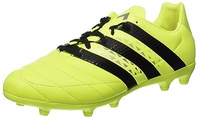 adidas Ace 16.3 FG Lea - AQ4456 - Men's Soccer Football Shoes, (SYELLO/