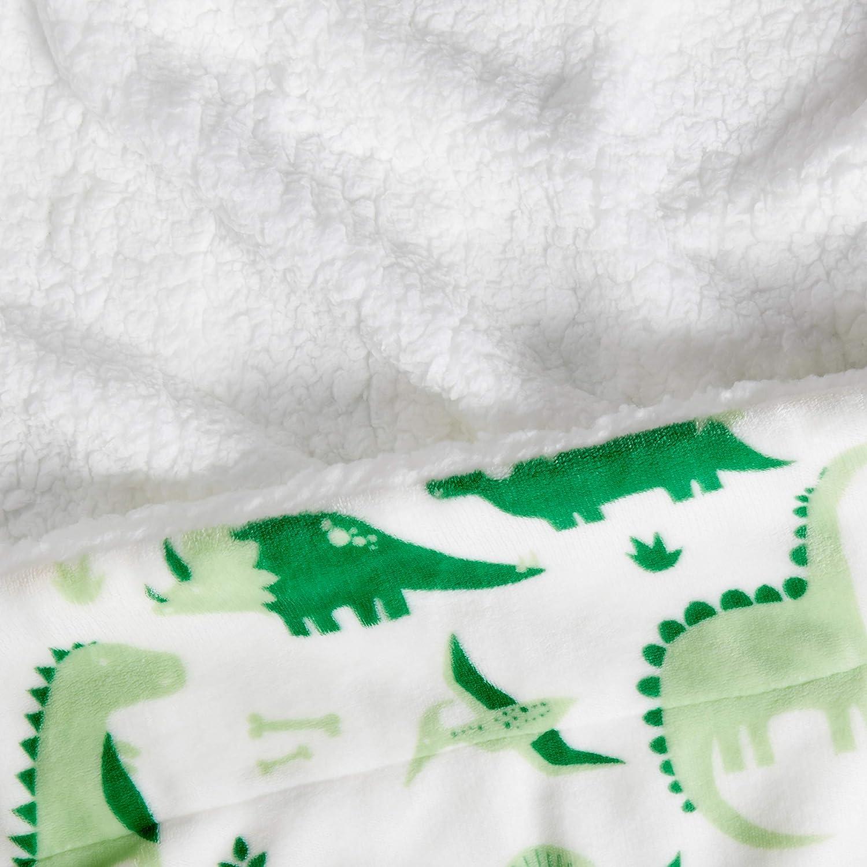Throw Mountain Mint Green Basics Kids Ultra-Soft Micromink Sherpa Blanket