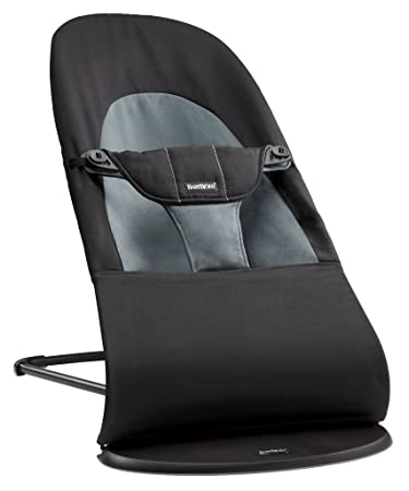 1b7a6516e8d Amazon.com   BABYBJORN Bouncer Balance Soft - Black Dark Gray ...