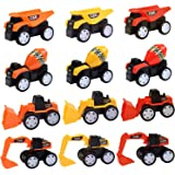 Sandbox Toy Trucks for Kids Boys and Girls - 12 Pack (2018 New) Toy Construction Trucks Dump Truck Beach Toys Trucks Play Set for Boys, Car Party Favors Cake Topper Best Toy for 3, 4 and 5+ Year Old