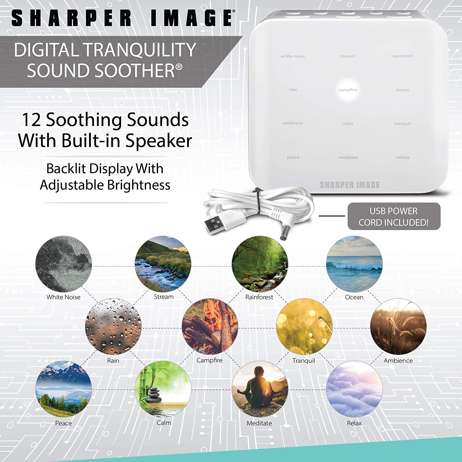 Amazon.com: SHARPER IMAGE Ultimate Sleep - Máquina de sonido ...