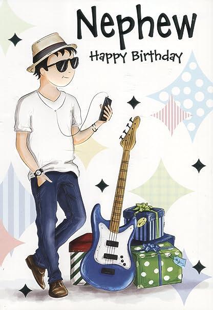 Sobrino feliz cumpleaños deseos – Pop banda guitarra jugador ...