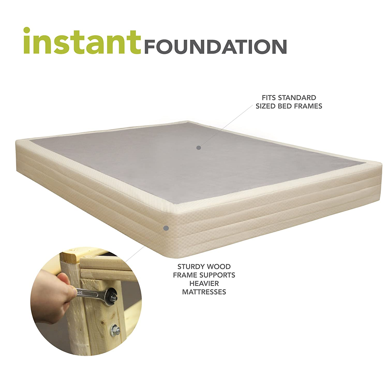 Classic Brands 8 Inch Instant Foundation Regular Profile Foundation or Box Spring Replacement - Twin X-Long