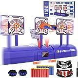 Electronic Shooting Target for Nerf Gun, Kids Shooting Target Practice Boys Girls Scoring Auto Reset Digital Targets…