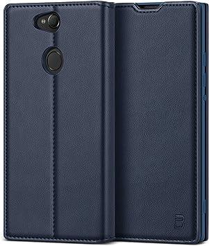 BEZ Funda Xperia XA2, Carcasa Compatible para Sony Xperia XA2, Libro de Cuero con Tapa y Cartera, Cover Protectora con Ranura para Tarjetas y Billetera, Cierre Magnético, Azul: Amazon.es: Electrónica