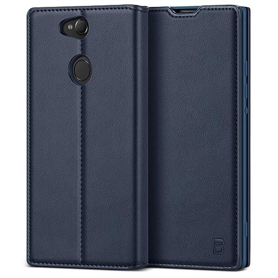 BEZ® Handyhülle für Sony Xperia XA2 Hülle, Tasche Kompatibel für Sony Xperia XA2, Schutzhüllen aus Klappetui mit Kreditkarten