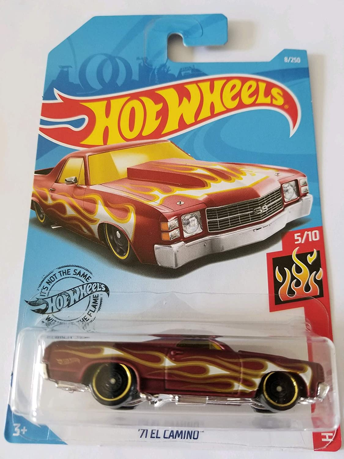 2019 Hot Wheels Hw Flames 5//10/'71 El Camino 8//250