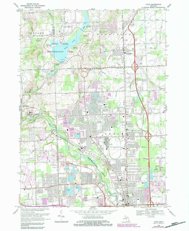 Amazon Com Yellowmaps Utica Mi Topo Map 1 24000 Scale