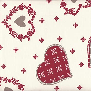 New Colour - Authentic French Christmas Fabric (Alpine) | Hearts ...