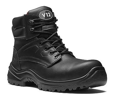 Size Black Amazon Free Derby uk V12 S3 Otter co 03 Metal Boot z8xYpq