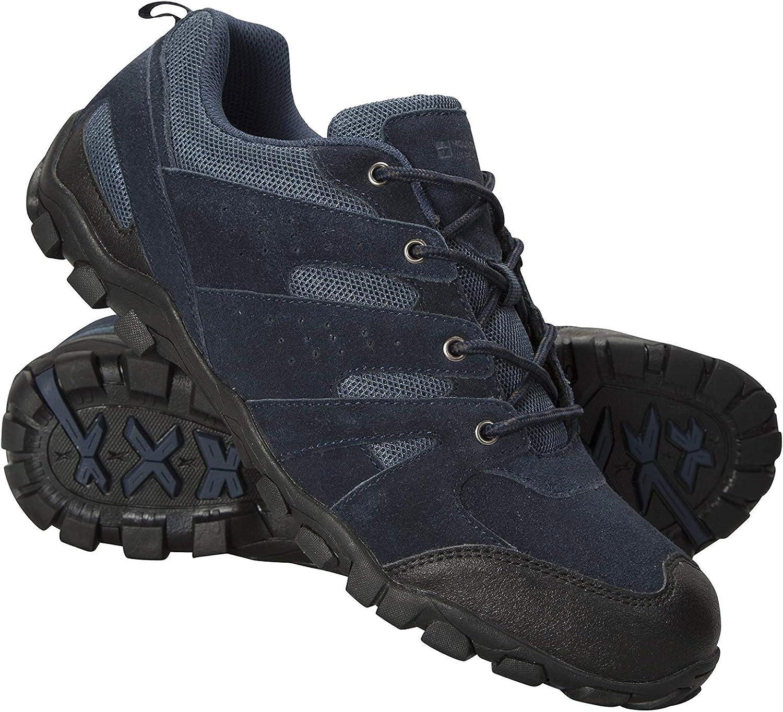 Mountain Warehouse Mens Walking Shoes – Suede Mesh Upper Footwear