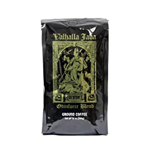 Valhalla Java Ground Coffee by Death Wish Coffee Company, USDA Certified Organic & Fair Trade (12-Ounce Bag)