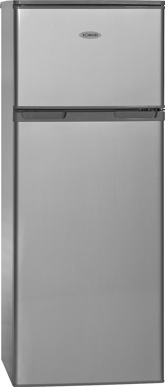 Bomann DT 246.1 silber Kühl-Gefrier-Kombination / A+ / Kühlen: 170 L ...