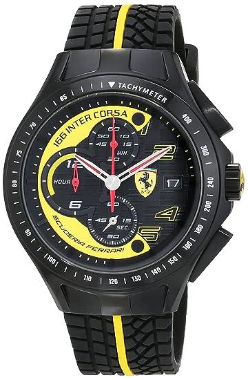 Ferrari 0830078 Race Day - Reloj analógico de pulsera para hombre (cuarzo, correa de