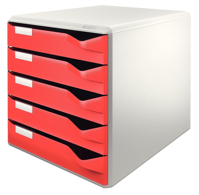Leitz 5 A4 Drawer Cabinet, Organiser, Post Set, All Black Esselte Ltd 52930095