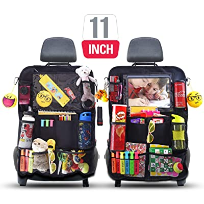 ROVICLU Car Back Seat Organizers Kick Mats Protectors for Kids with 11 inch Tablet Holder. (2 Pack): Home Improvement [5Bkhe0103495]