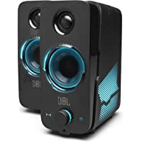JBL Quantum Duo Gaming Speakers, USB Powered, Pc Speakers, Powerful JBL Sound with LED Colour Lights, in Black